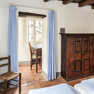 Blick in eines der Doppelzimmer von der Casa Santo Stefano