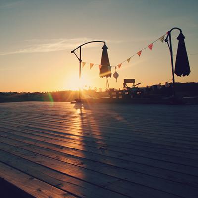 Sonnenuntergang im Chez Zen