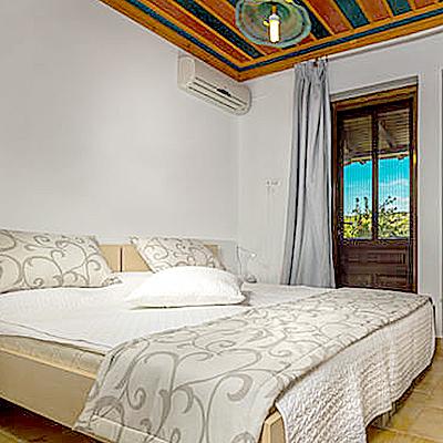 Schlafzimmer in der Villa Merilen