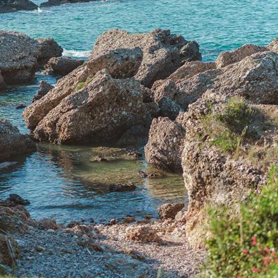 Die kleine Bucht zum Baden
