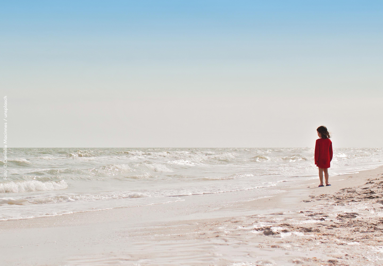 Ein Strandspaziergang mit den Kleinen