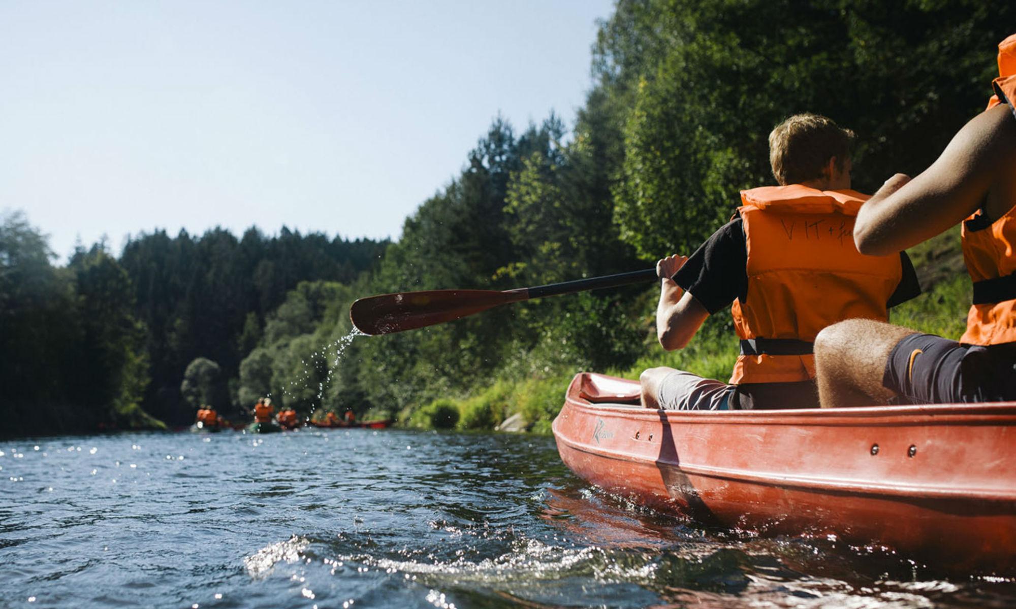 Mit dem Kanu durch Bayerisch-Kanada