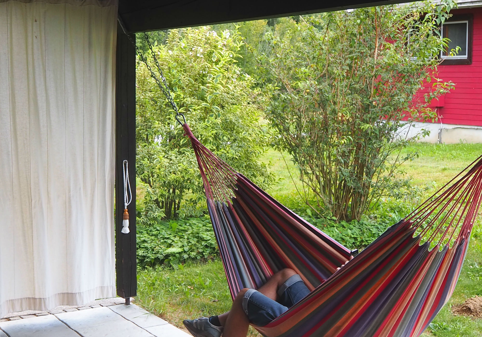 Nach dem Wandern erst einmal entspannen