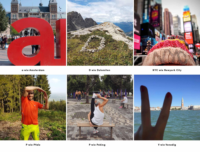 Bildbeispiele Wettbewerb ABC des Reisens