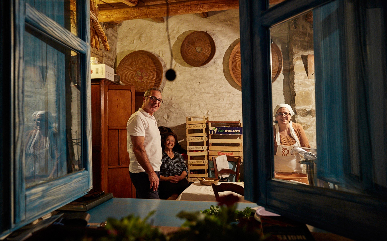 Ältere Menschen auf Sardinien