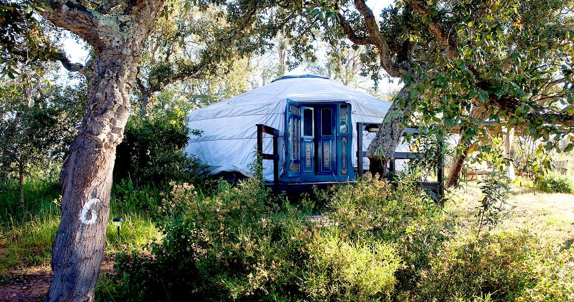 Jurte der Nature Lodge in Portugal