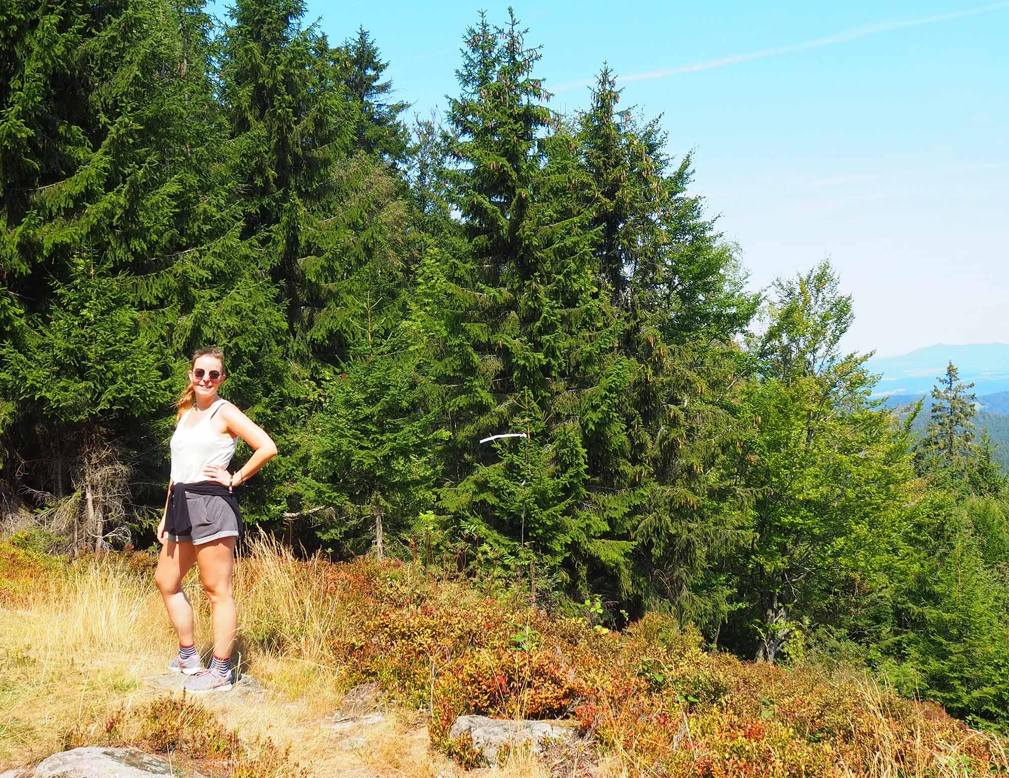 Lisa unterwegs im Bayerischen Wald