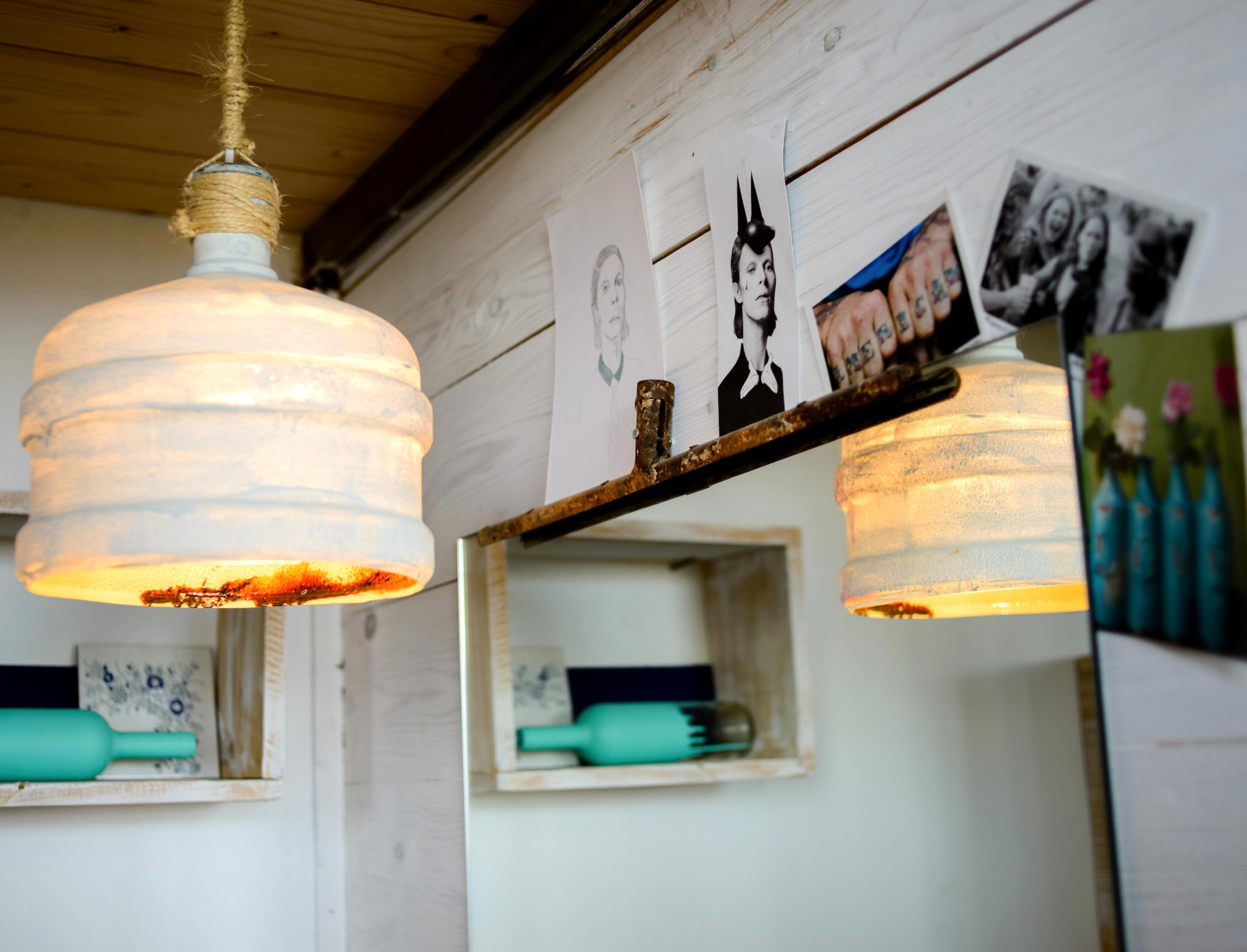 recycelte Lampe