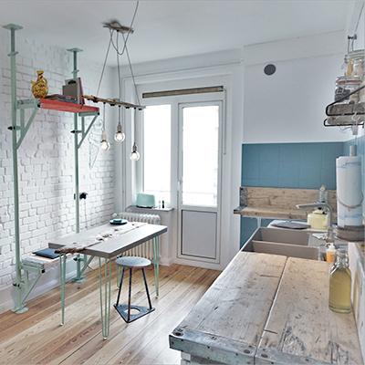 Einwegfrei - die Küche des Apartments