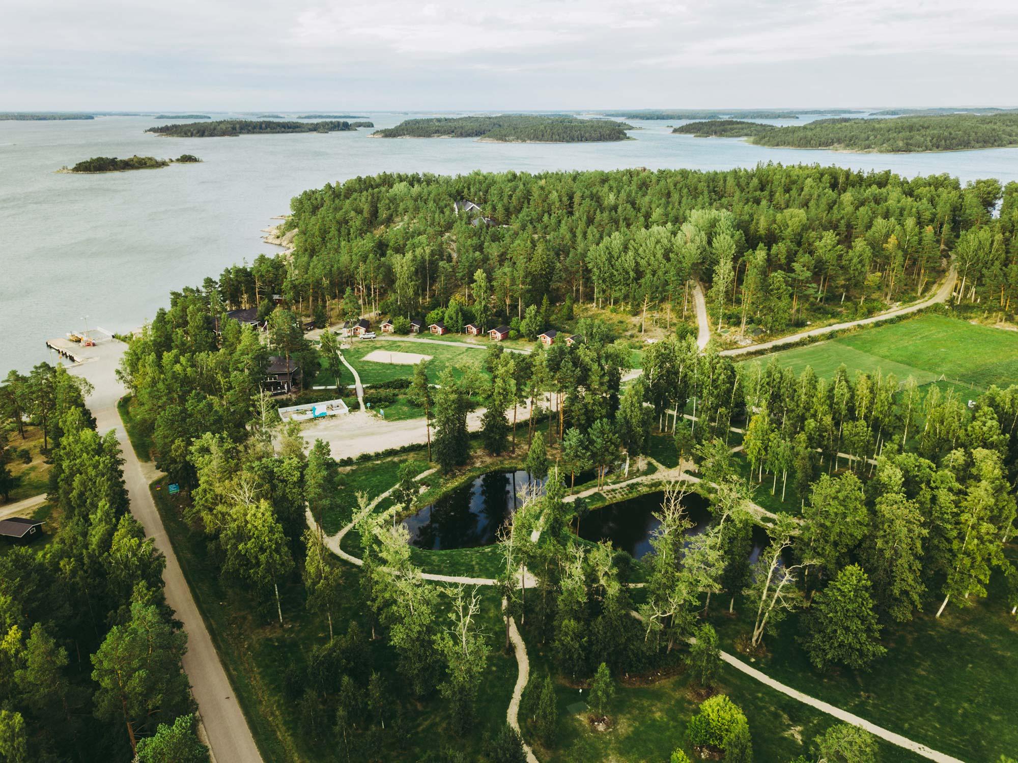 Mossala Island Resort von oben