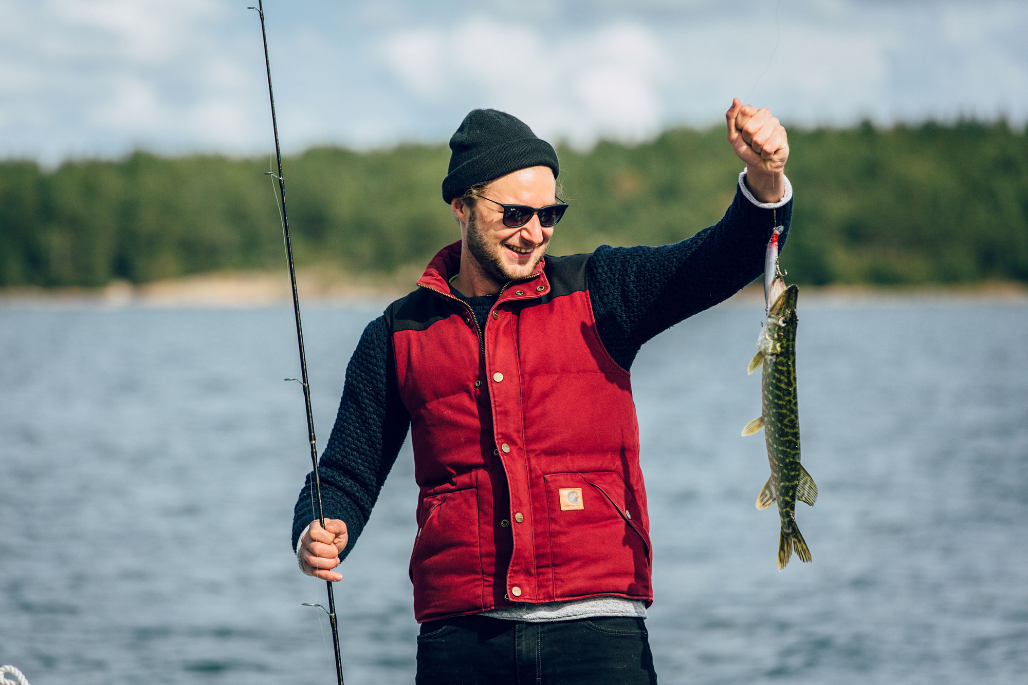 Frisch gefangener Fisch, den man sich später selbst zubereiten kann