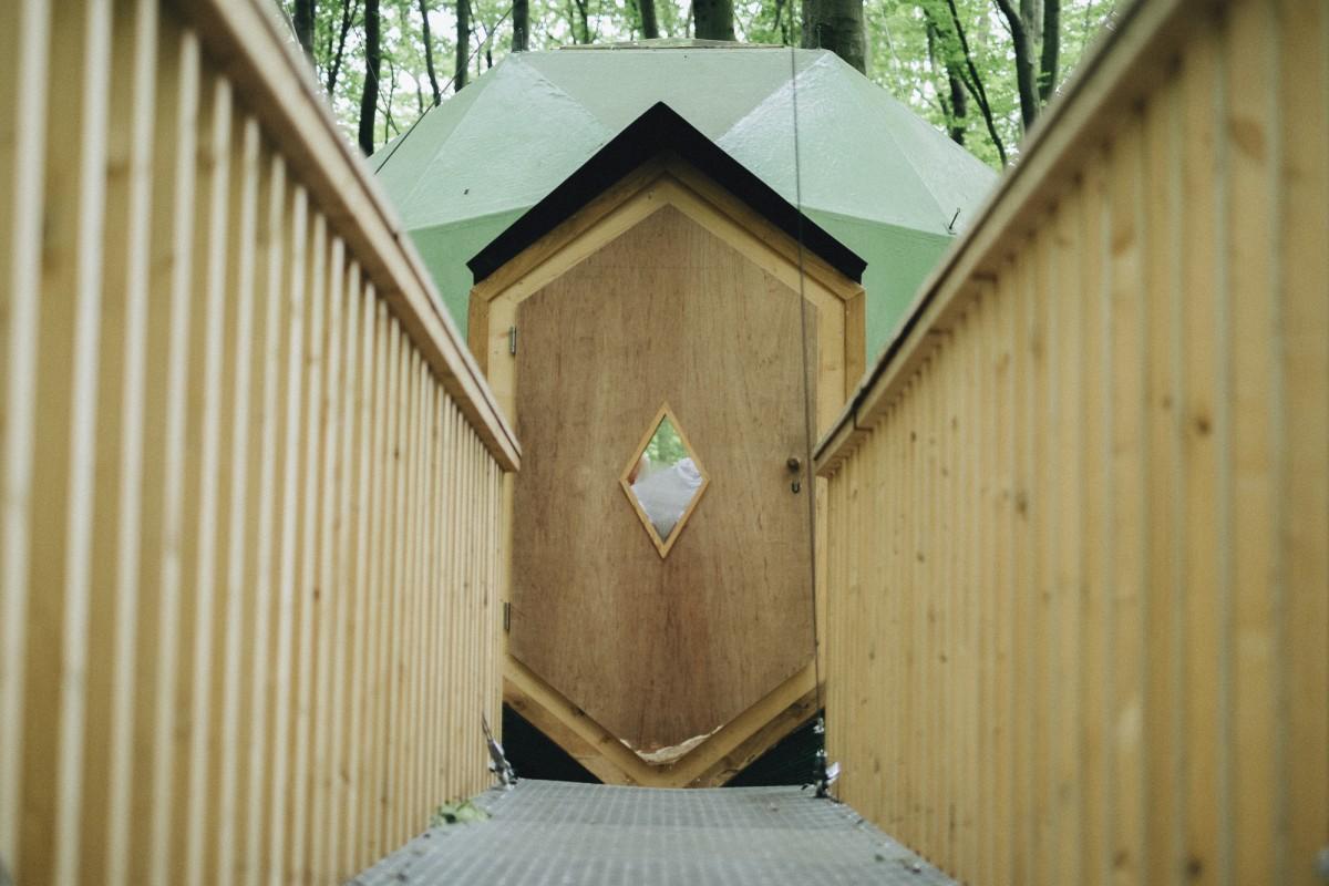 Eingang zum Baumhaus