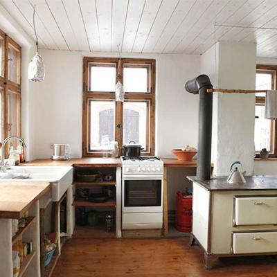 Küche im blauen Pferd