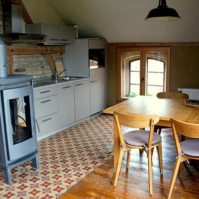 Gemütlich in der Küche sitzen