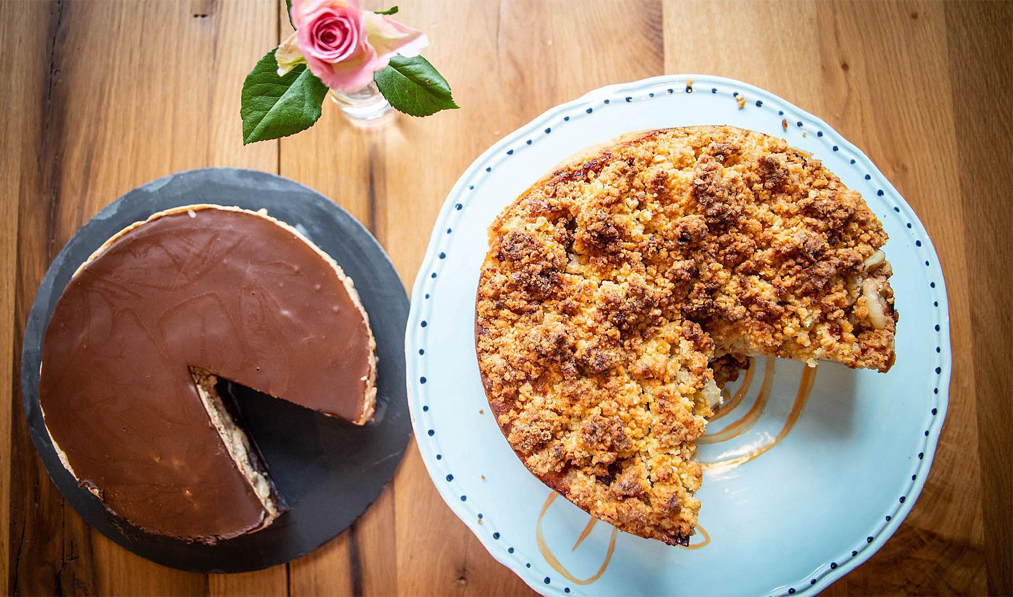 Hier gibt es unter anderem leckere Kuchen zu genießen