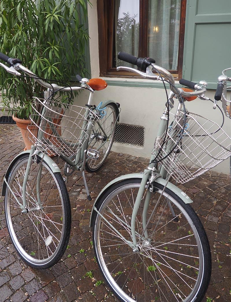 Mit den Fahrrädern kann man Lana wunderbar erkunden