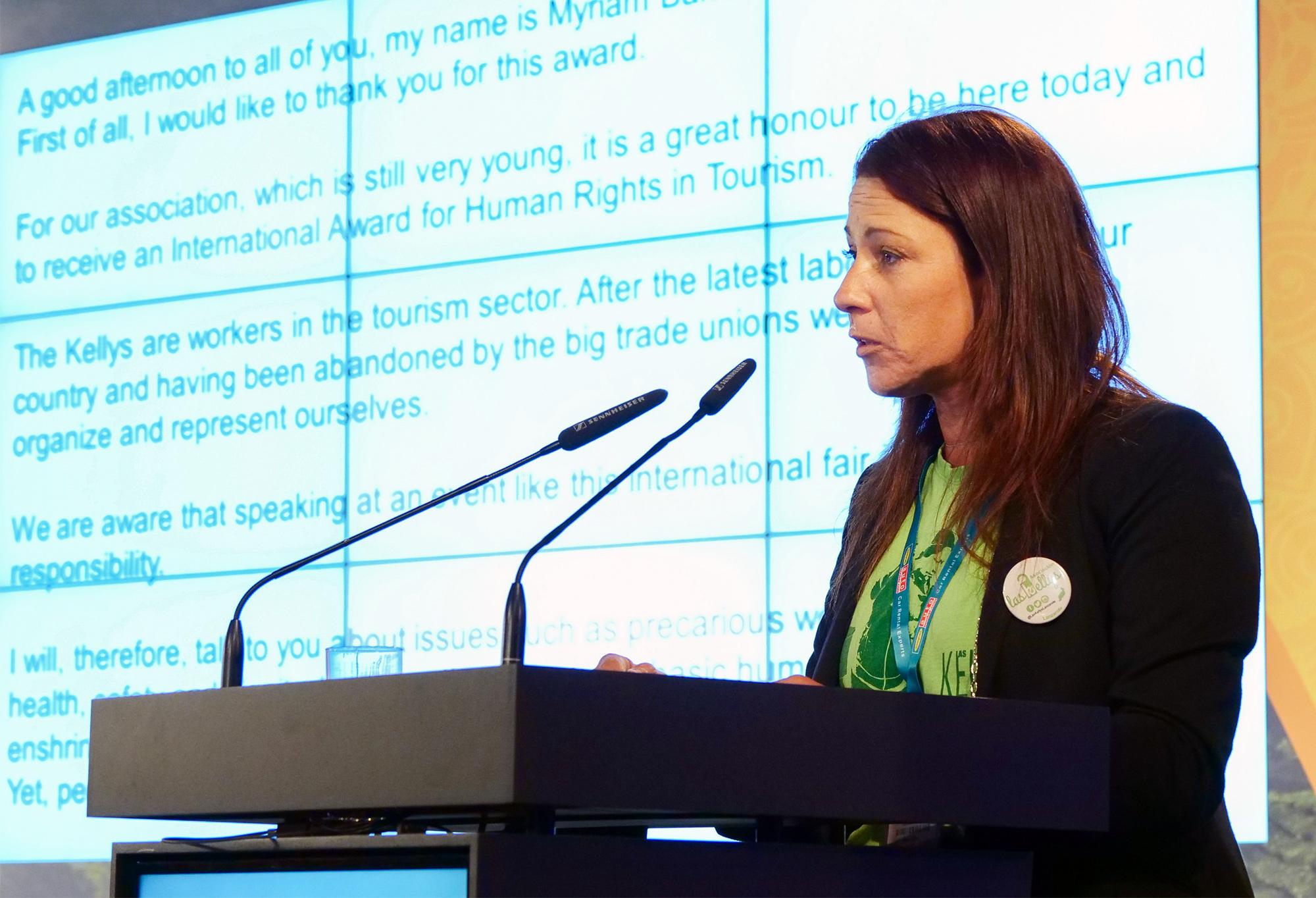 Myriam Barros setzt sich für bessere Rechte spanischer Zimmermädchen ein | Credit: Messe Berlin