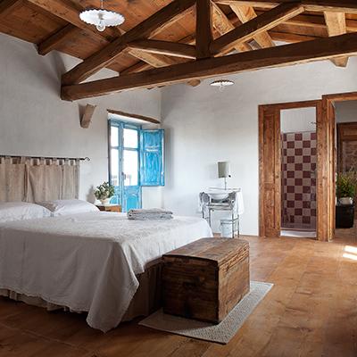 Die Zimmer sind ebenso wie die Küche traditionell