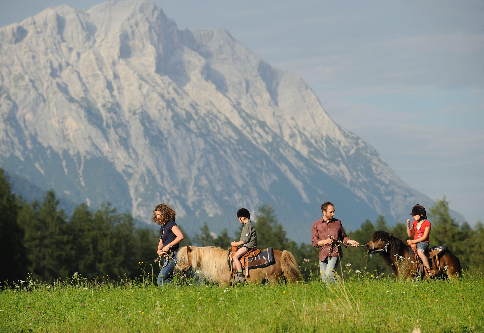 Ponywandern in der Natur