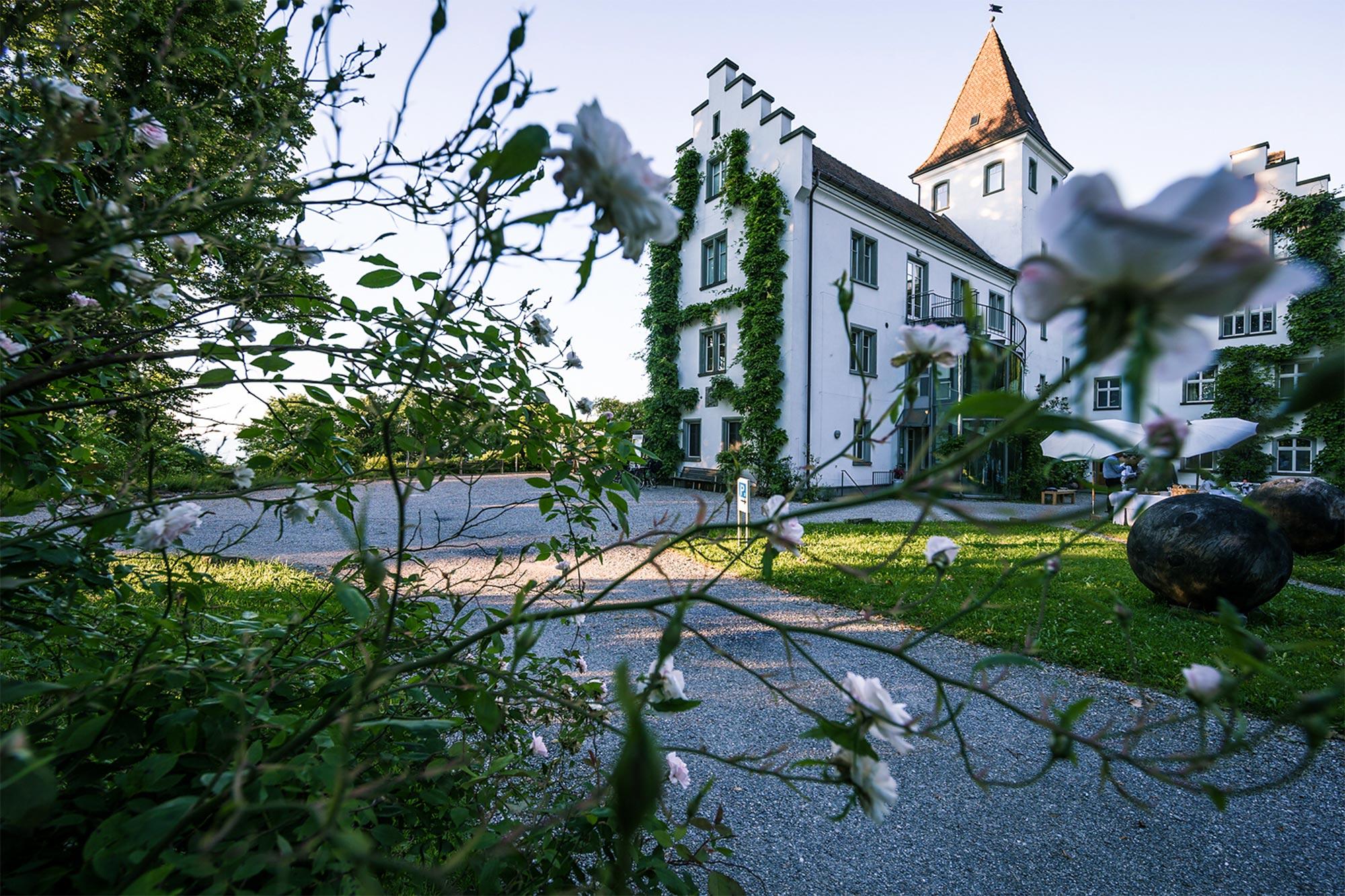 Das Schloss Wartegg im Sommer