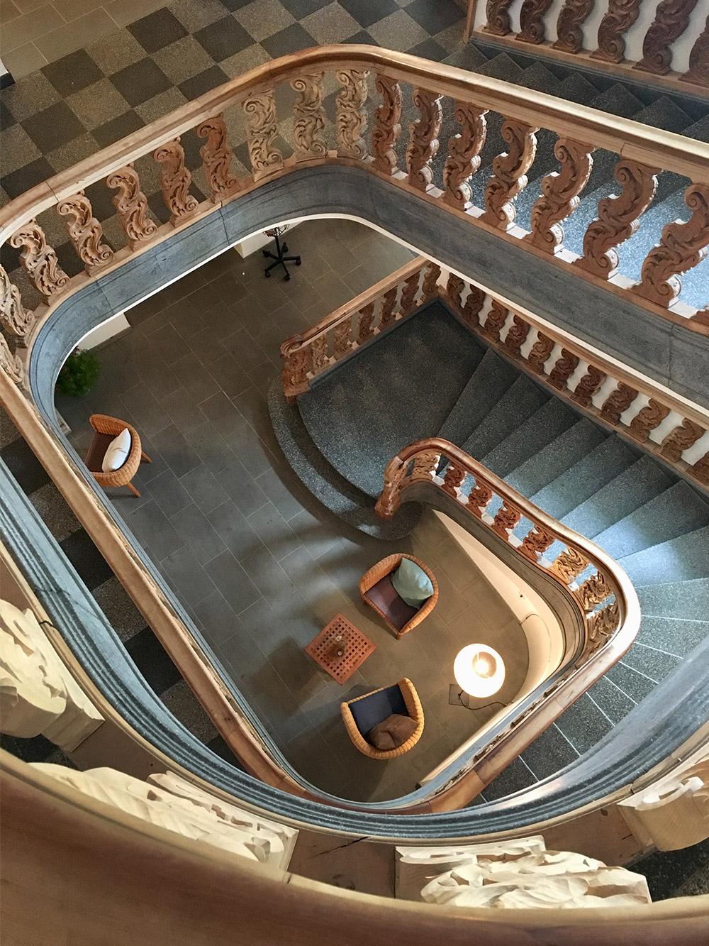 Das Treppenhaus im Schloss Wartegg