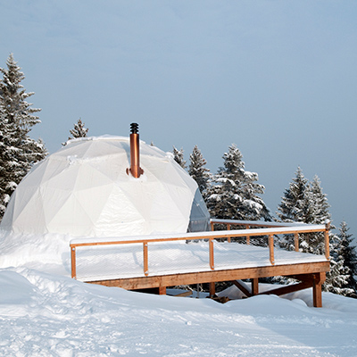 Iglu-Urlaub in den Whitepods