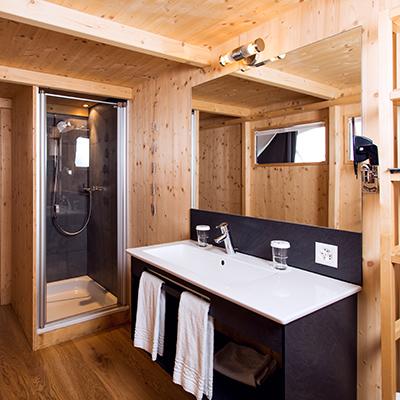 Auch die Badezimmer sind in den Pods beheizt