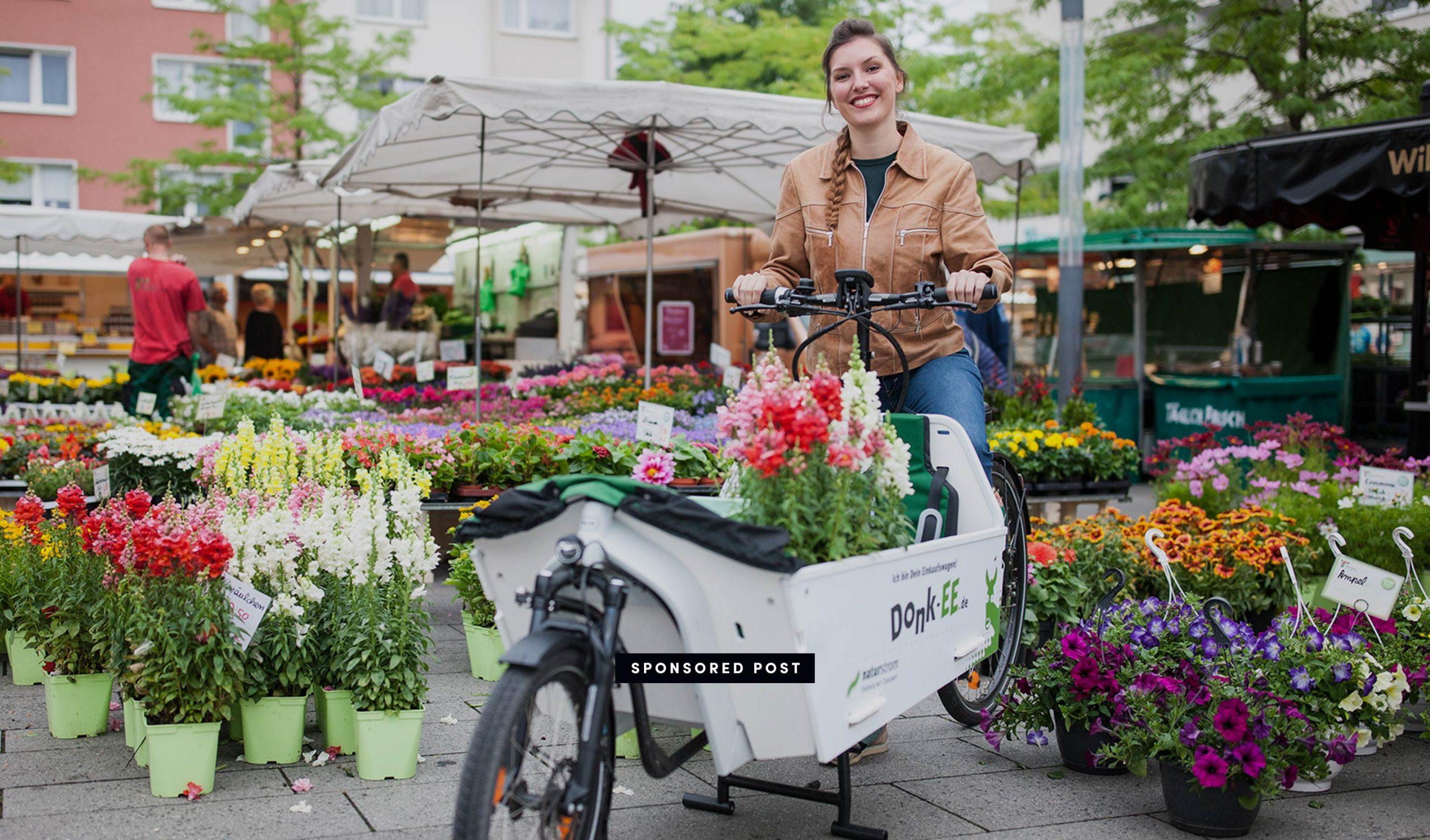 Auf dem Markt mit Naturstrom