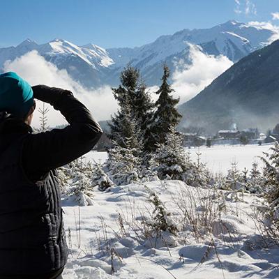 Die schneebedeckte Umgebung im Landhotel Stern genießen