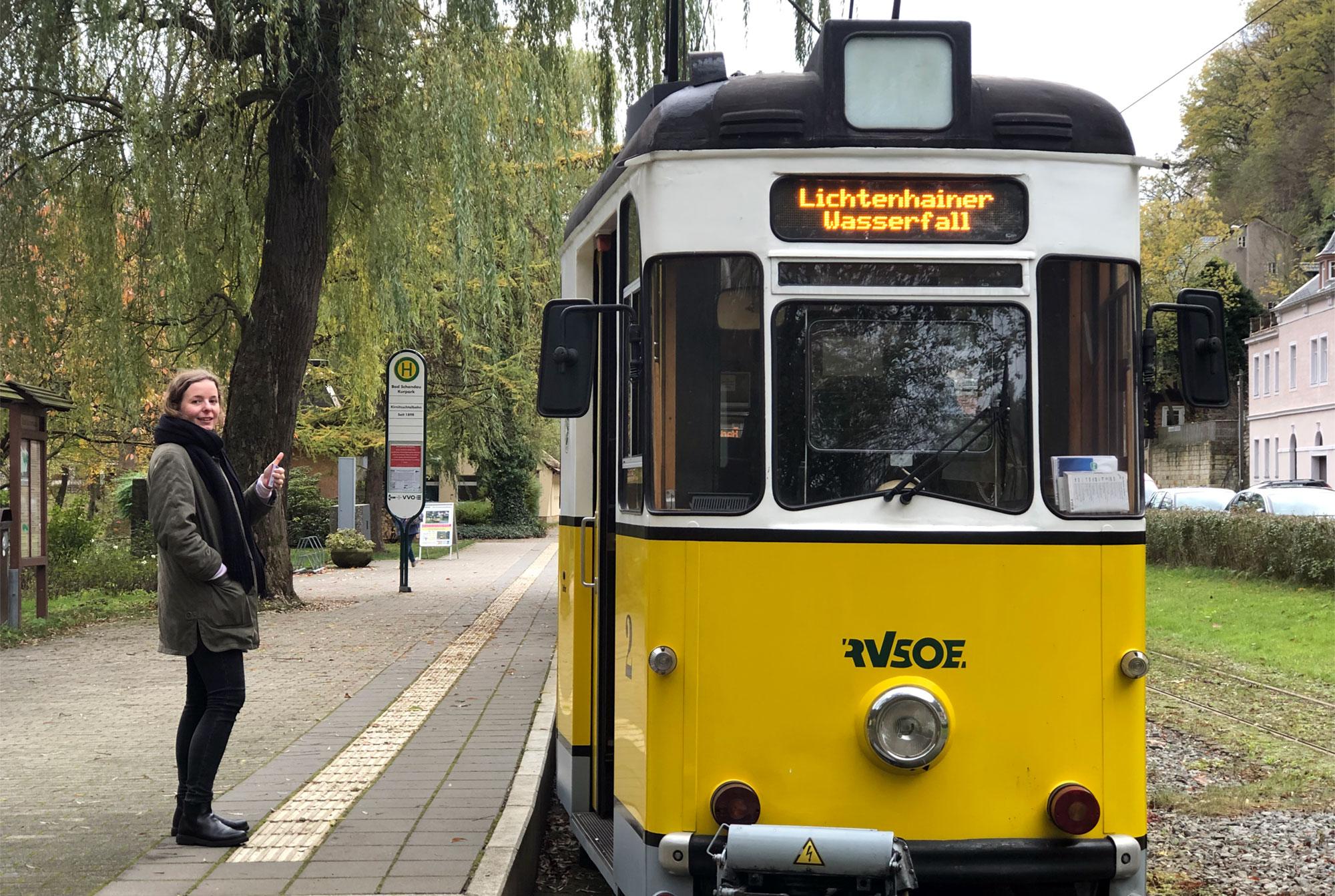 Mit der traditionsreichen Kirnitzschtalbahn fahren