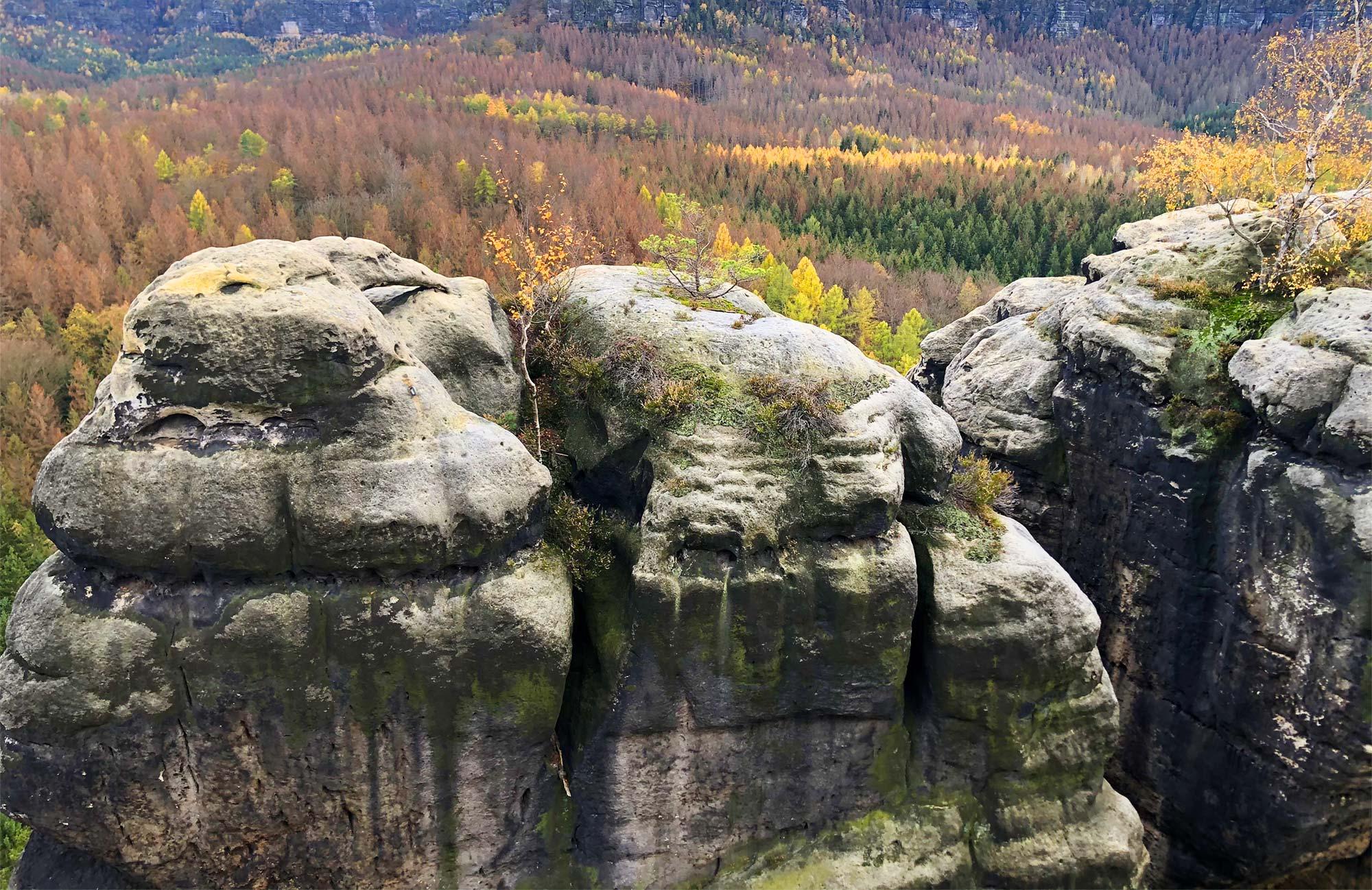 Der Ausblick über die Sächsische Schweiz