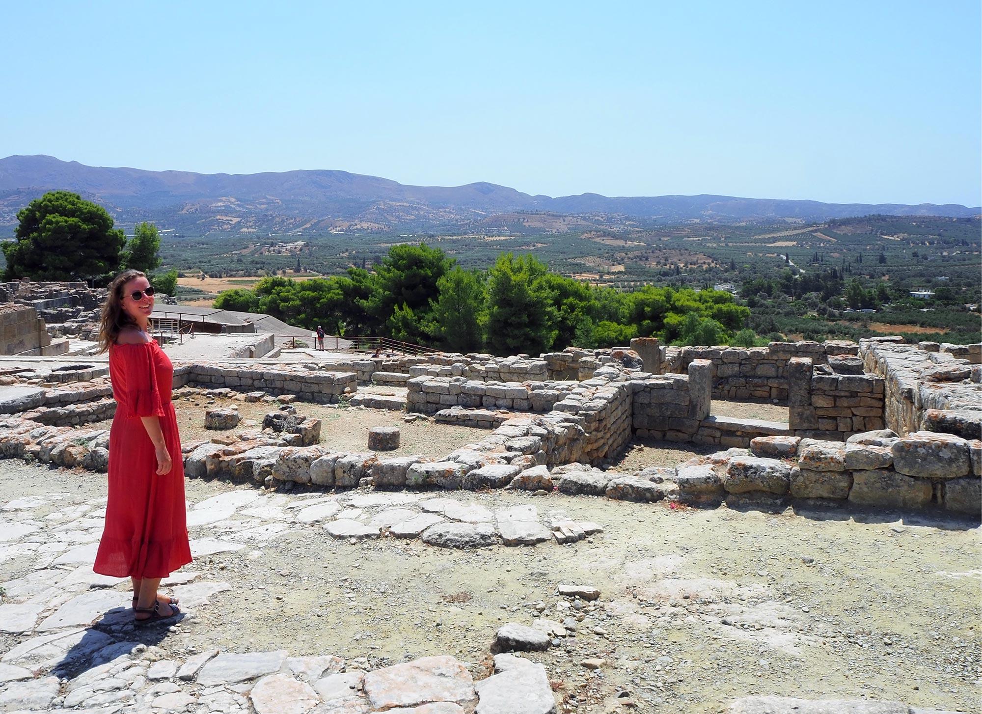 Die archäologische Stätte Phaistos ist nicht so überlaufen wie Knossos