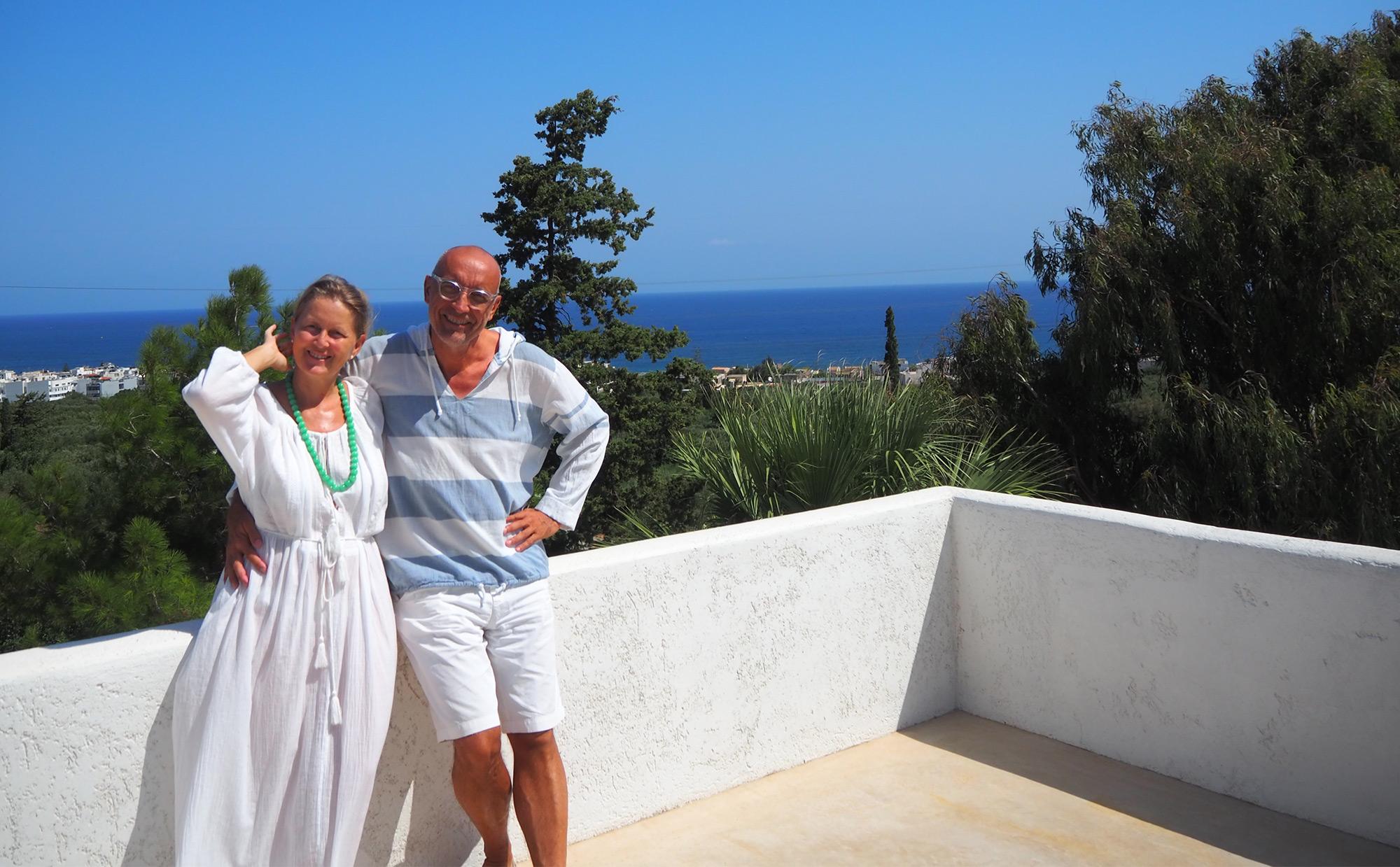 Die Weltenbummler Daniela und Martin fanden auf Kreta ihr Zuhause
