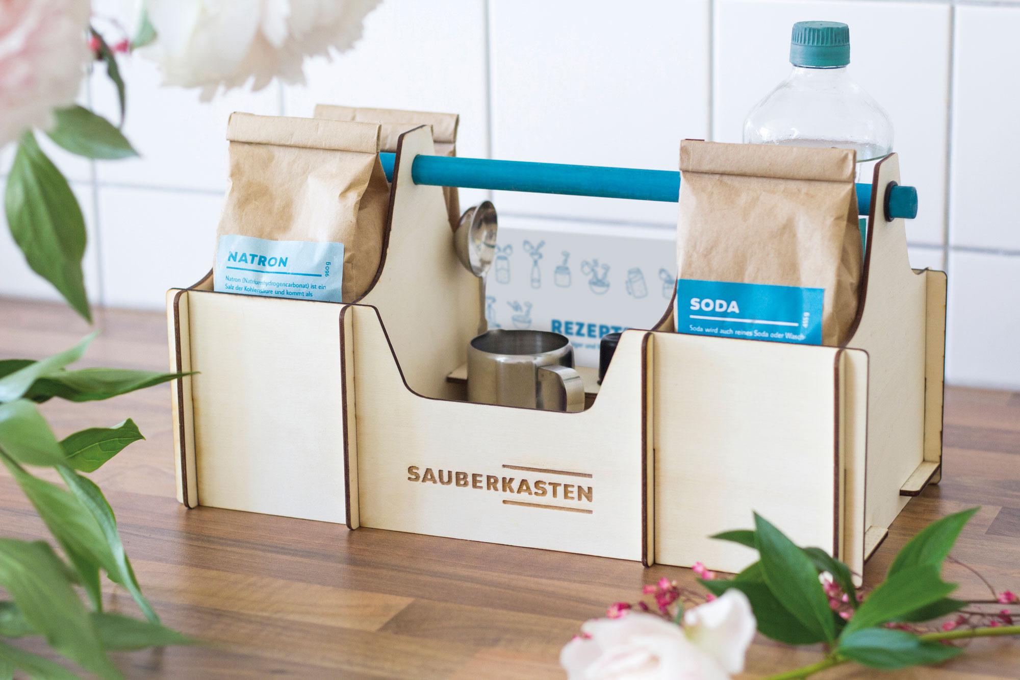 Der Sauberkasten enthält alles, um die Wohnung nachhaltig auf Vordermann zu bringen