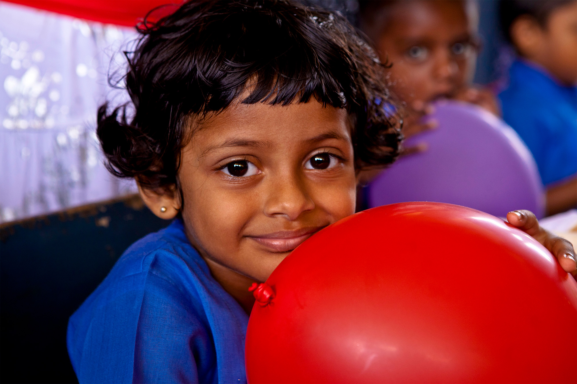 Vorschulkind in der one world foundation in Ahungalla, Sri Lanka, Foto: Thomas Wirthensohn