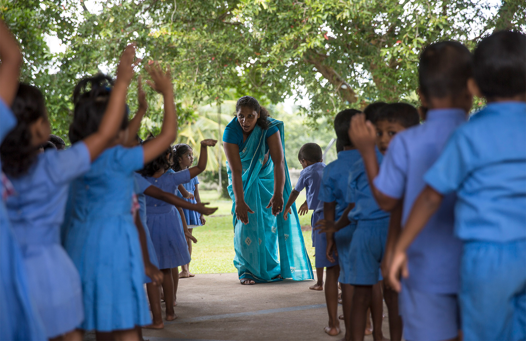 Unterricht in der Vorschule der one world foundation in Ahungalla, Sri Lanka, Foto: Thomas Dorn
