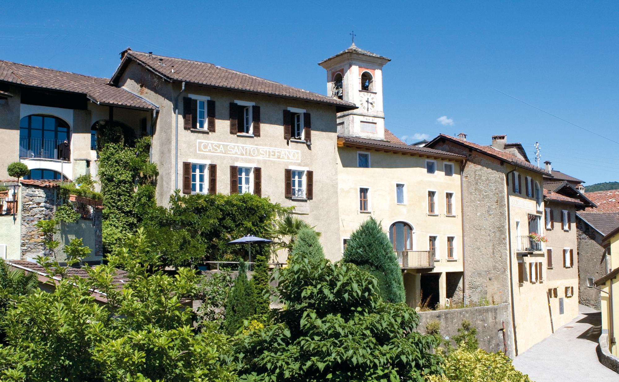 Das Albergo Casa Santo Stefano im Schweizer Tessin