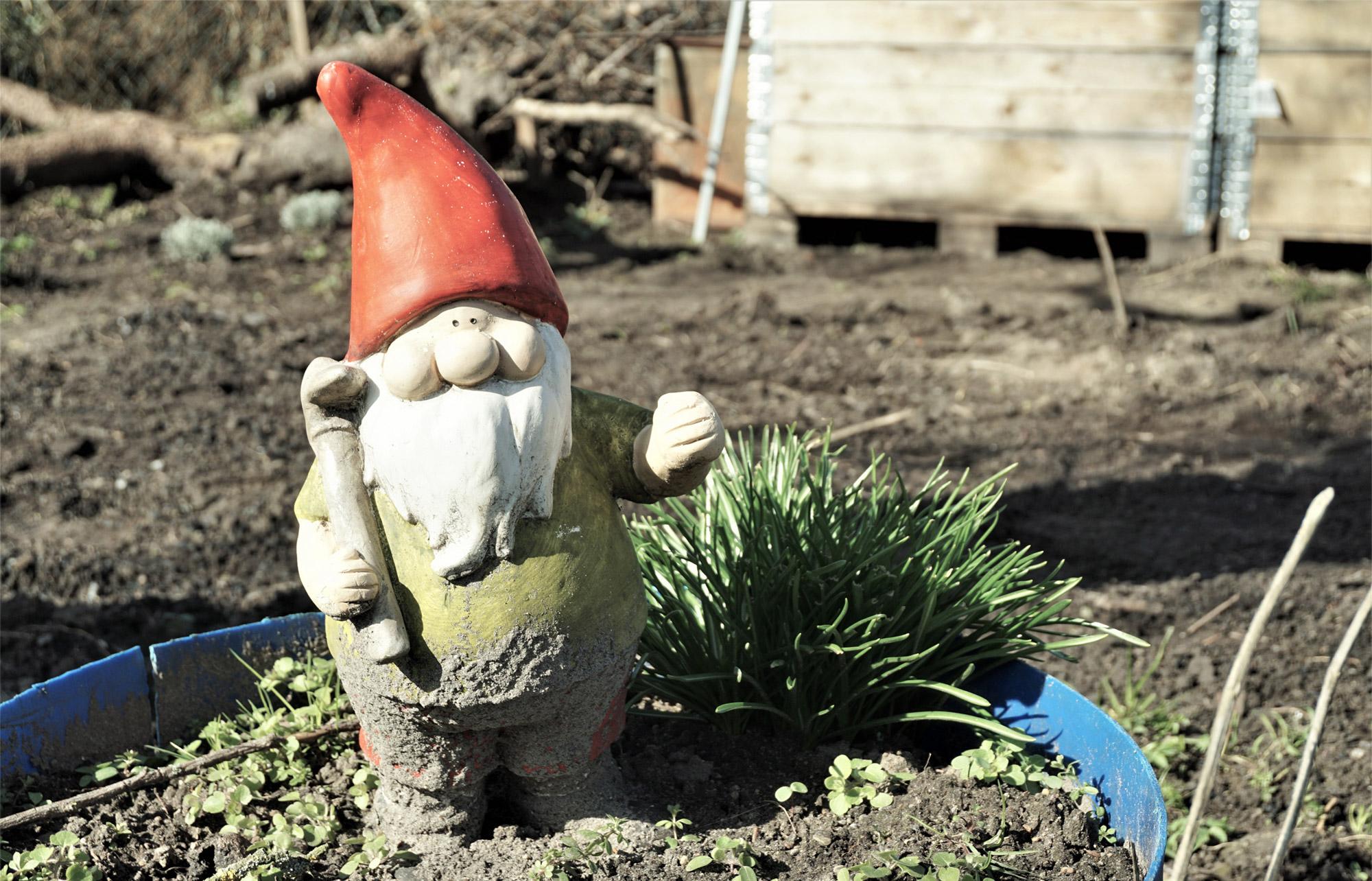 Der Gartenzwerg darf nicht fehlen