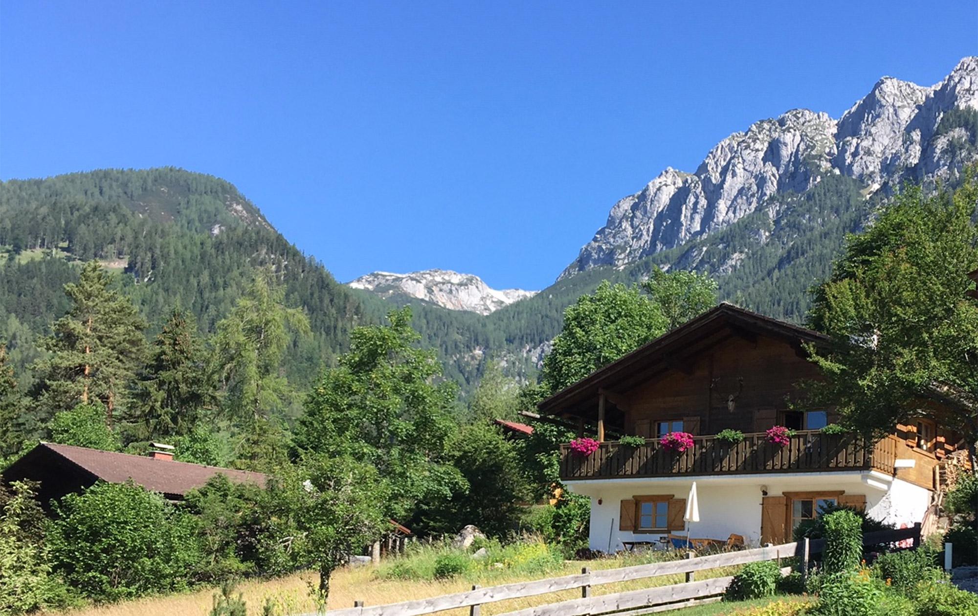 Die Unterkunft Auszeit in den Bergen befindet sich unweit des Spiegelsees