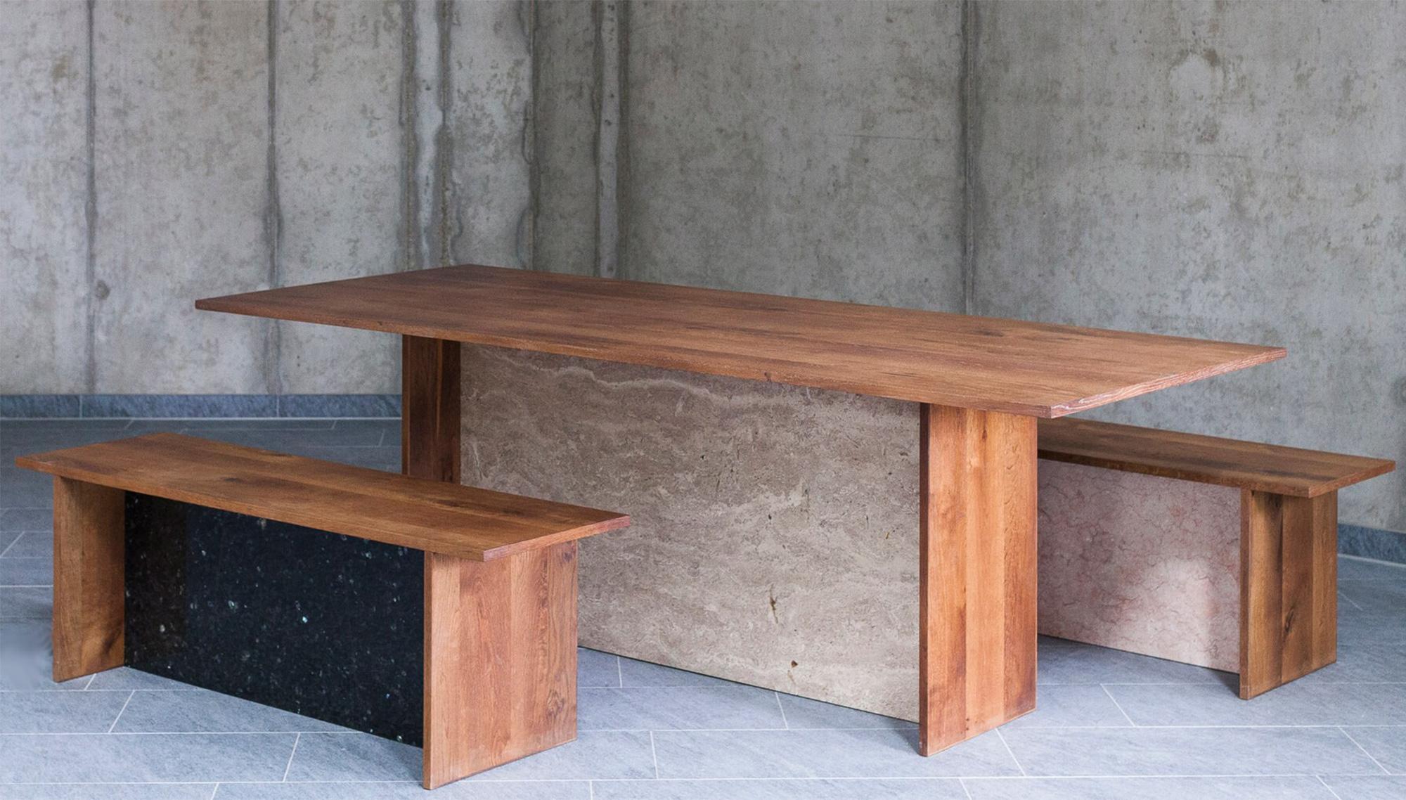 Die Möbel von JOHANENLIES bestehen aus recycelten Materialien