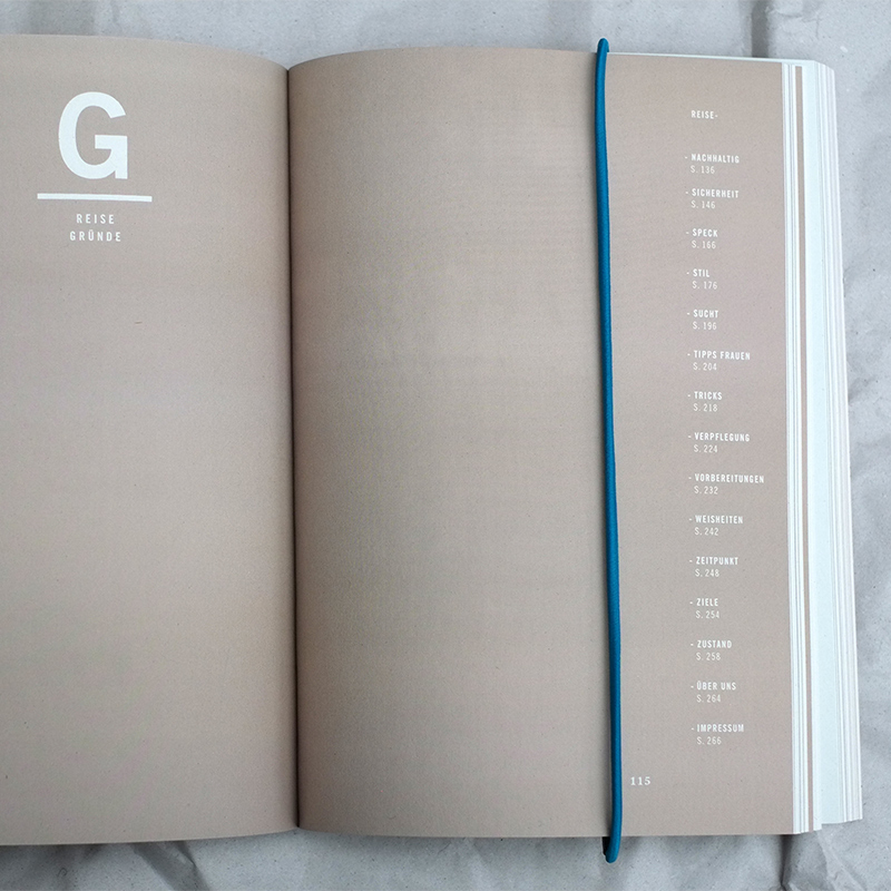 Blick in das Reisehandbuch Reis aus