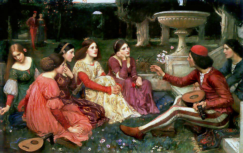 """Decamerone"" Waterhouse. Bild: wikipedia.org"