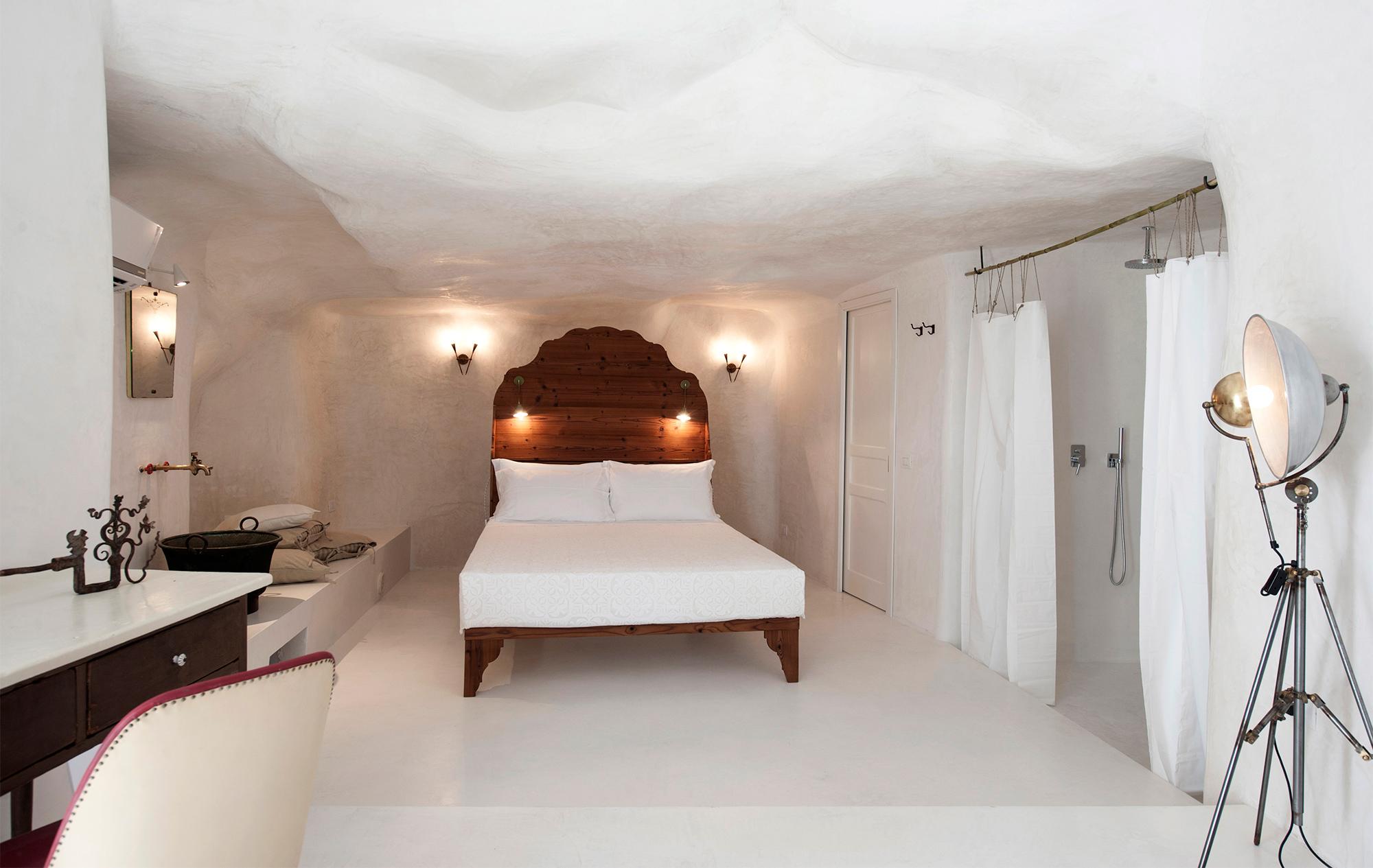 Das Schlafzimmer der Casa Talía