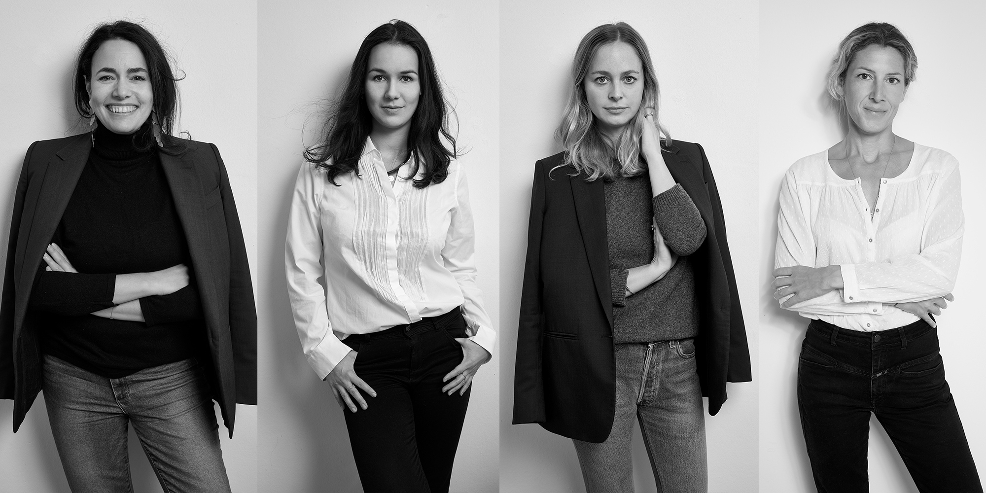Das Gründerinnenteam hinter the wearness (v.l.n.r.): Julia Zirpel, Guya Merkle, Jennifer Dixon, Karolin Helou