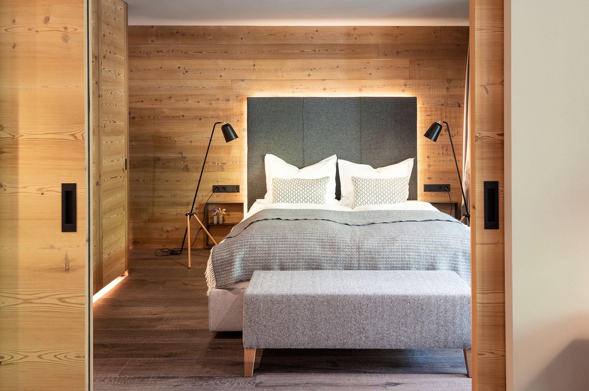 Blick in eines der Zimmer des Hotel Gitschberg