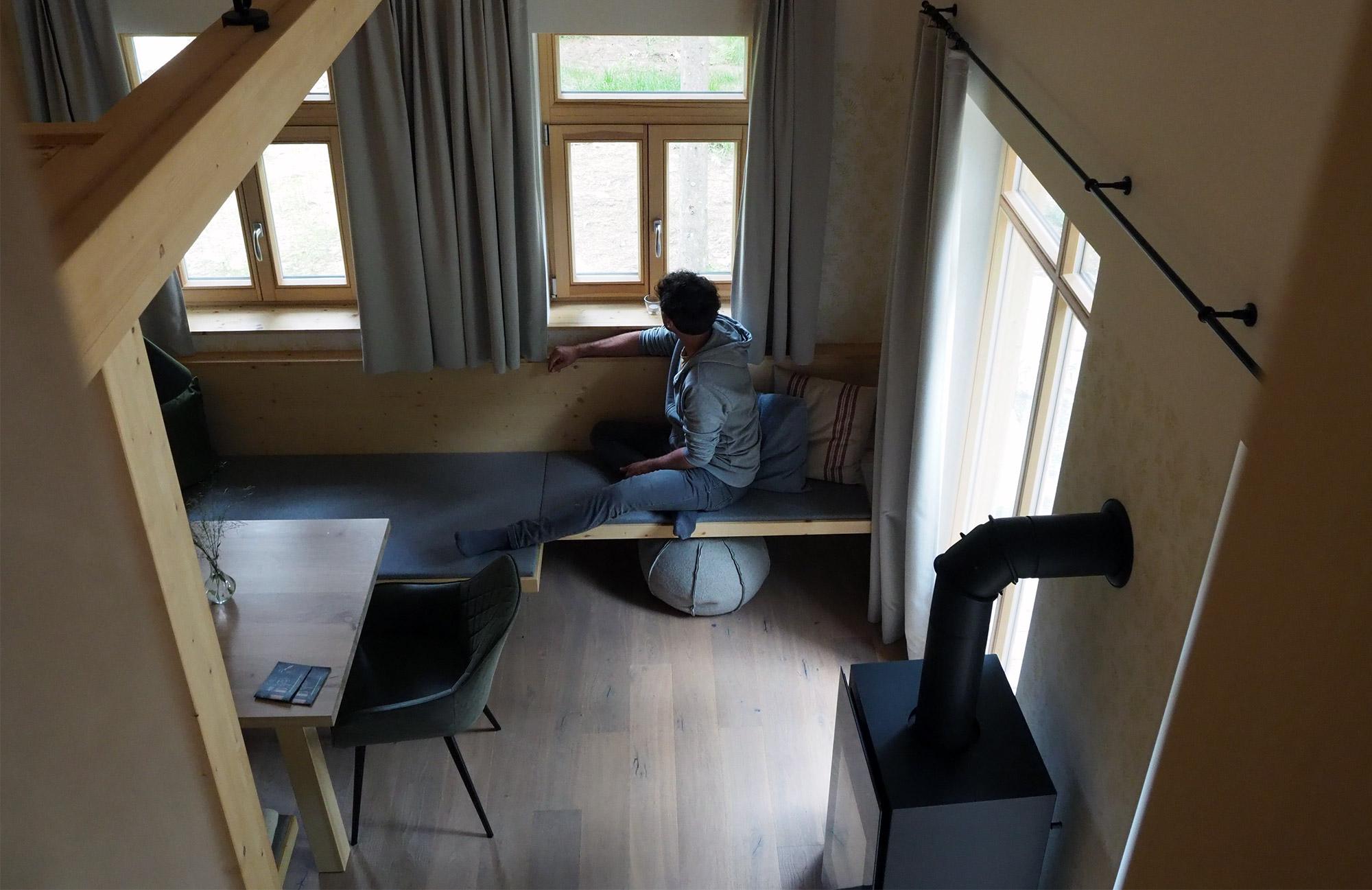 Die Holzknechthütte bieten Platz für bis zu vier Personen