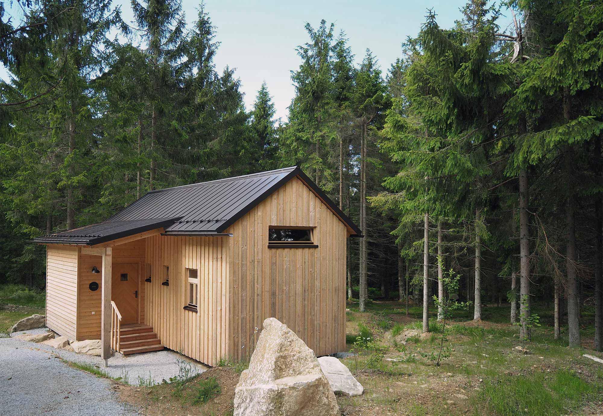 Die Holzknechthütte Minna wird unser Zuhause für die nächsten Tage