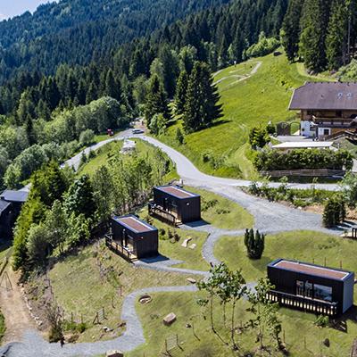 Die Art Lodge von oben