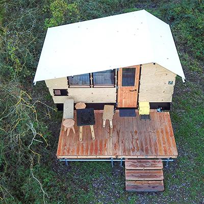Eine Hütte von Oben
