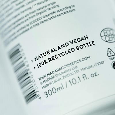 MÁDARA verwendet bei ihren Verpackungen soviel recyceltes Plastik wie möglich